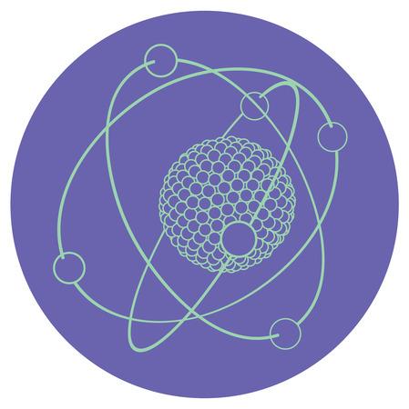 nucleus: outline atom nucleus