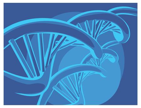 dna chain: DNA chain Illustration
