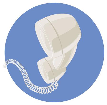handset: Handset of vintage telephone.