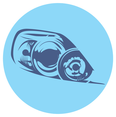 headlight: illustration of a car headlight
