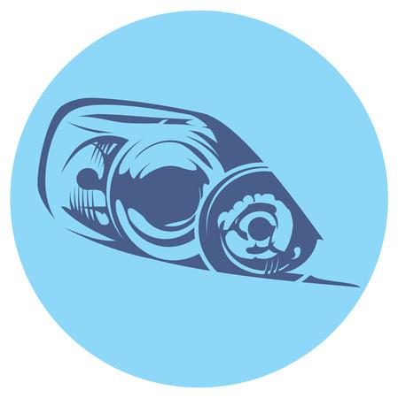 illustration of a car headlight