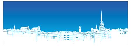 swedish: Swedish town silhouette