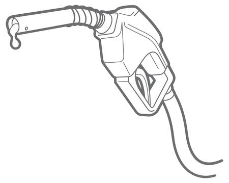 nozzle: outline icon of filling gun. nozzle