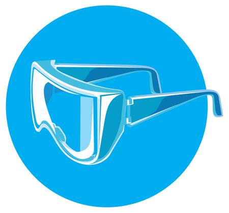 personal protective equipment: Vector illustration of a Personal protective equipment glasses Illustration