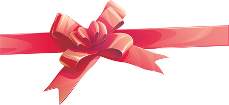 s tie: illustration of a Red ribbon bow invitation.