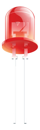 diode: Red Light Emitting Diode isolated illustration. led