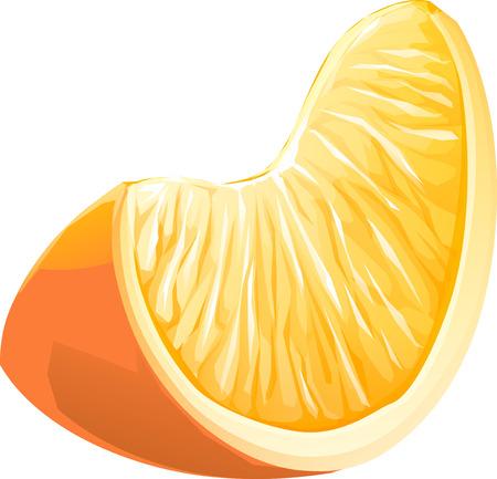 Realistic illustration slice of orange fruit. isolated Stock Photo