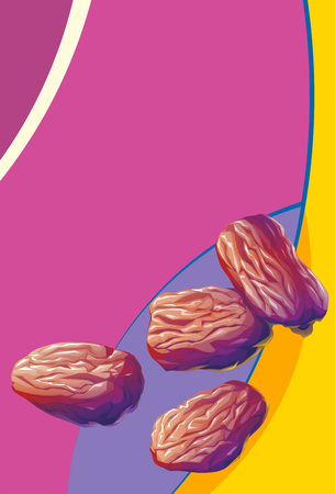 heap: illustration of heap of raisins on abstract background