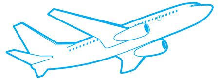 the passenger: passenger plane in flight, bottom view. isolated on white