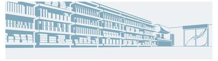 illustration of a shelves in store. supermarket.