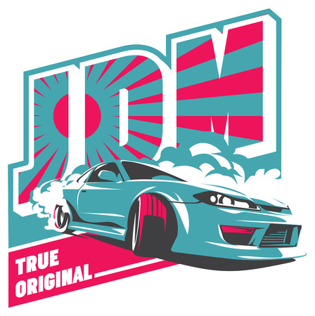burn out: Burnout car, Japanese drift sport car, JDM, racing team, turbocharger, tuning.