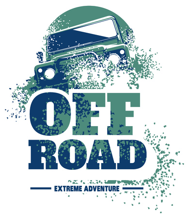 Off-road auto logo, safari suv, expeditie offroader.