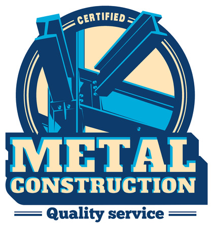 Building construction metal frame logo. Ilustrace