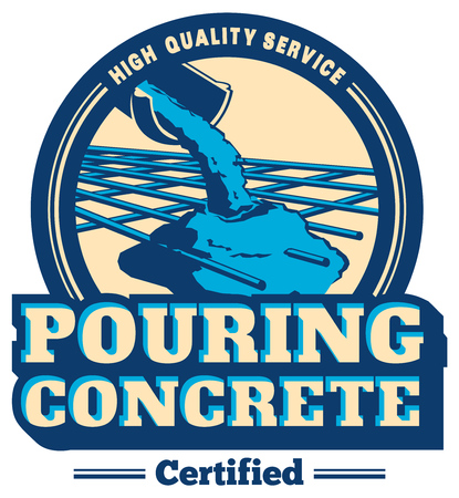 Vector gieten beton logo Logo