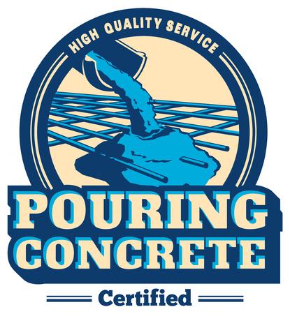 Vector versando il logo concreto Logo
