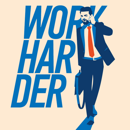 Hipster beard businessman vector illustration. Successful Businessman.