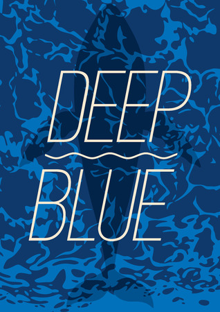 Deep blue typography Illustration with summer theme graphic design.
