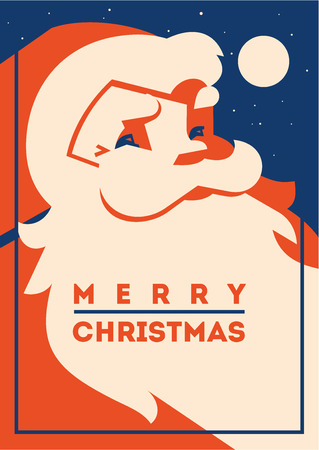 Santa claus with beard minimalistic vector illustration Reklamní fotografie - 119918240