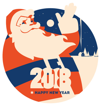 Santa claus with beard minimalistic vector illustration Reklamní fotografie - 119918285
