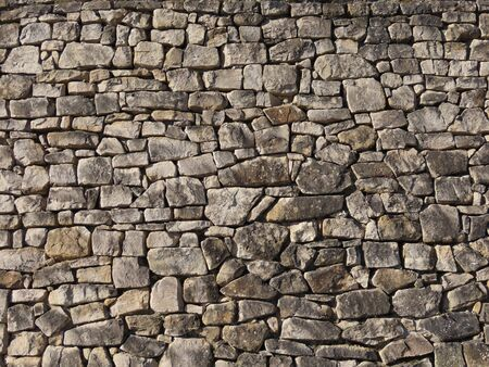 Texture of old sandstone block wall in ancient fortress in Luxembourg 版權商用圖片