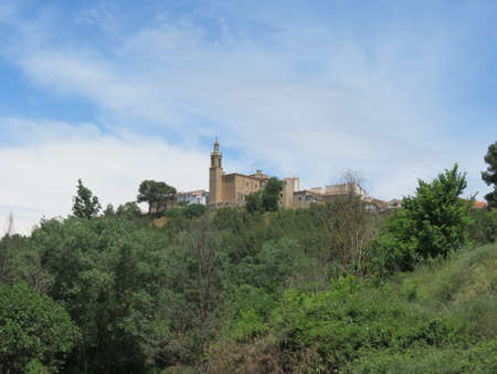 View of Torres del Rio in Navarra, Spain, one of the historic towns on Camino de Santiago