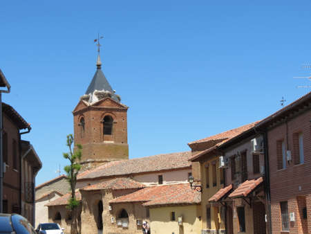 St. Martin church tower in Mansilla de las Mulas, Spain