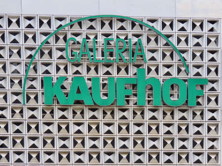Galeria Kaufhof shop sign in Trier, Rhineland-Palatinate, Germany - September 1, 2020