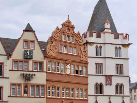 Traditional gothic medieval houses in Trier, Rhineland-Palatinate, Germany