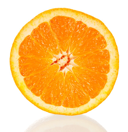 Orange cross-section isolated on the white