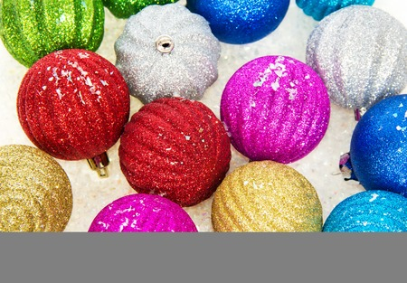 Christmas colorful balls, background photo