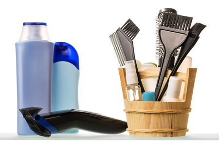 bodywash: Male shaving kit isolated on white background.