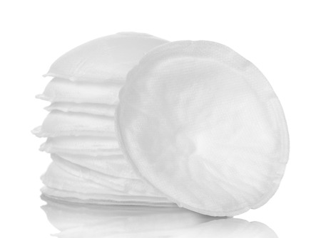 Cotton sponges for removing makeup isolated on white background.