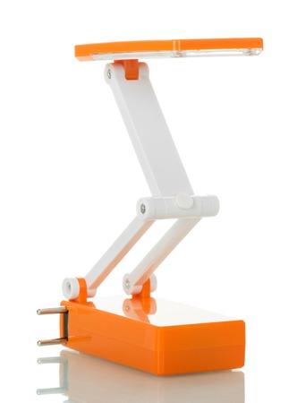 현대 접는 테이블 LED 램프 흰색 배경에 고립.