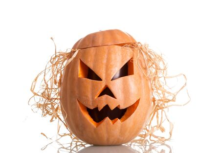 Halloween pumpkin with scary face. Jack O