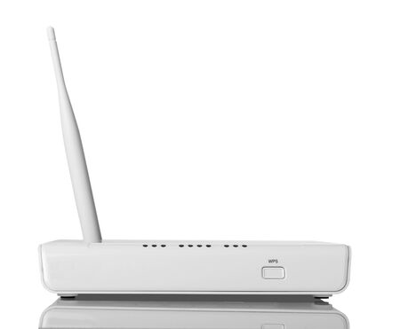 Wi-Fi router with WPS function, isolated on white background