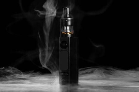 Electronic cigarette isolated on black background