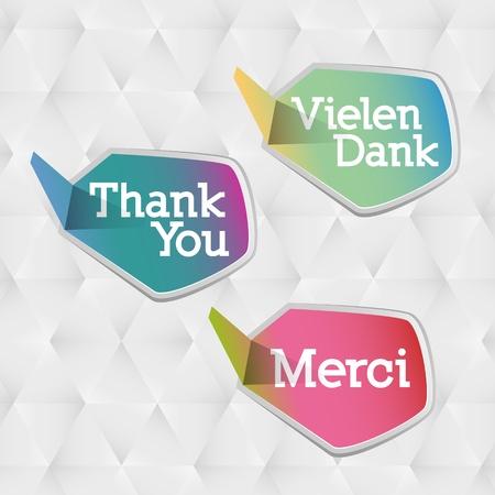 thankful: Gracias burbujas en idiomas de �rbol diferentes: ingl�s, alem�n y franc�s