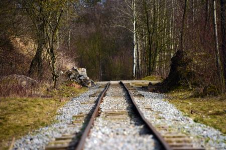 narrow gauge railways: Narrow gauge railway in mine near Beroun Stock Photo