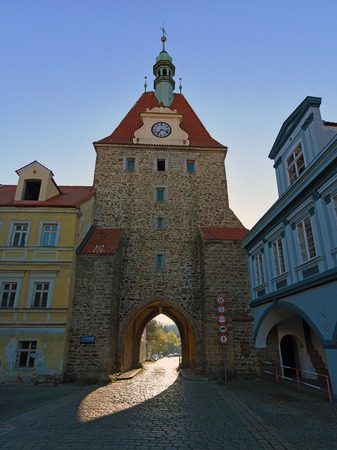 bohemia: Southwest Bohemia town Domazlice in spring time