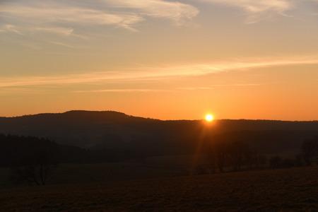 bohemia: Orange sunrise in north of Bohemia