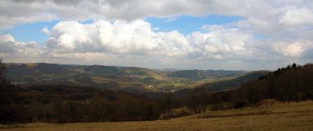 ceske: Spring mountains in Bohemia without snow Stock Photo