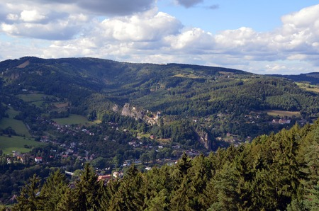 skala: Observation place in Mala Skala village in north Bohemia