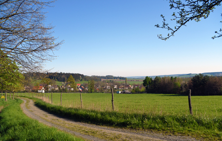 bohemia: Green landscape in south of Bohemia Stock Photo