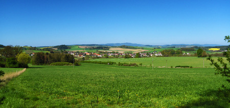 bohemia: Landscape in spring south of Bohemia near Kdyne town Stock Photo