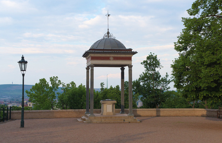 gazebo: Gazebo in park near Spilberk castle Stock Photo