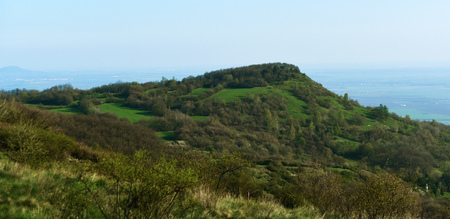 ceske: Path and hills in mountains Ceske Stredohori