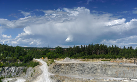 sand quarry: Stone and sand quarry in village Sevetin in south Bohemia