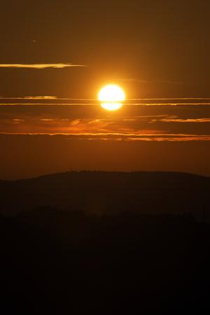 krkonose: Sunset near village Roprachtice in Krkonose mountains