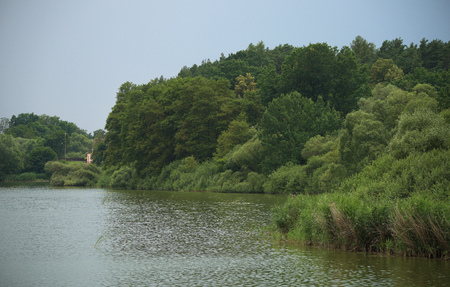 bohemia: Novozamecky pond near Zahradky village in north Bohemia Stock Photo