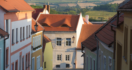 moravia: Town Mikulov in south of Moravia in hot summer evening